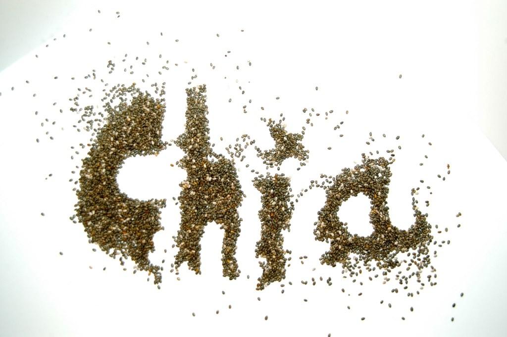 Chiafrø formet som bogstaver